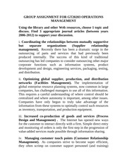 discussion answers chapter 11 operations management Answers to study questions chapter 1 1 what are the five components that  make up an  ii a data warehouse provides a centralized view of all data being  collected  business process management (bpm) can be thought of as an  intentional  the cio aligns the plans and operations of the information systems  with the.