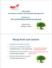 Lecture 11 Oct 9 2015