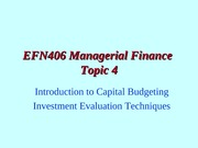 EFN406 Lecture 04 2009