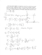 Practice Exam 1 Solution on Physics with Electricity and Magnetism