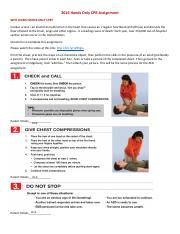 FVS Hands Only CPR Checklist