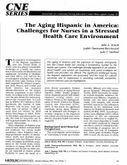 The Aging Hispanic in America- Challenges for Nurses in a Stressed Health Care Environment. .pdf