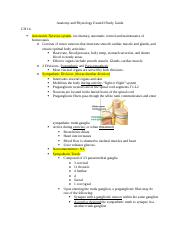 Anatomy and Physiology Exam II Study Guide.docx