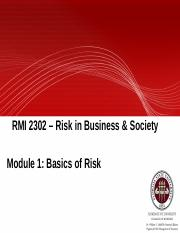 Module 1 - Introduction to Risk(1)