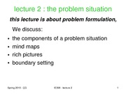 5-lecture 2-2010 problem situation