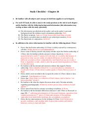 Study Checklist - Chapter 26.docx