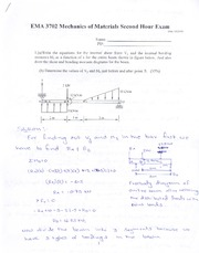 Midterm Exam 2 Solution Fall 2014 on Mechanics of Materials