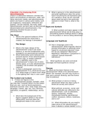 Checklist for Analyzing Print Advertisements.doc