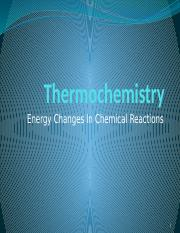 Lecture 4 Thermochemistry