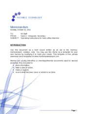 Flexible Technology Memo Template - Copy