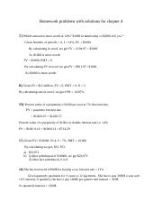 Homework problems with solutions for chapter 4