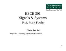 EECE 301 NS_04 System Modeling & Examples