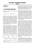 Lab 07 Optimal Foraging Theory