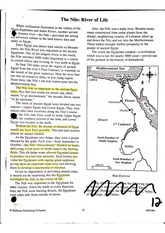 The Nile River, River Of Life Worksheet