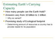 earths carrying capacity
