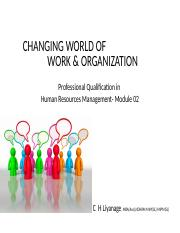 Work & organizations wo PIC.ppt