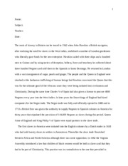 Final Paper for History Class