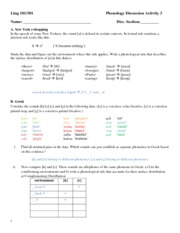 Phonology Discussion3a Answer Key