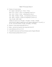 173A 2015 Lecture Notes 5