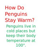 How Do Penguins Stay Warm.docx