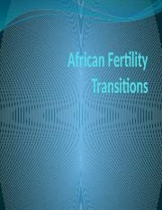African Fertility Transition.pptx