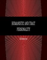 Day 15 - Humanistic and Trait Personality.pptx