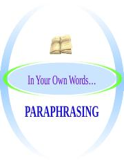 Paraphrasing Practice.ppt
