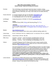 0 BISC _120 MWF Fall 2010 Syllabus