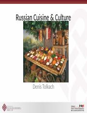 W12 Russian Cuisine & Culture