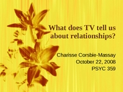 tv and interpersonal relations