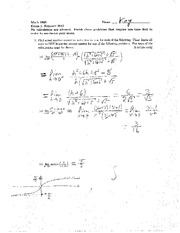 Exam A Summer 2012 Solutions on Calculus