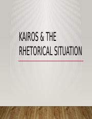 Kairos and Rhet Situation (slides)