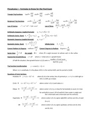 56676187 pre calculus semester 2 cheat sheet 1 sector area r 2 angular. Black Bedroom Furniture Sets. Home Design Ideas