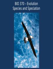 Species and Speciation Latest