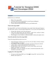 oracle-form-report pdf - Tutorial for Designer/2000 and