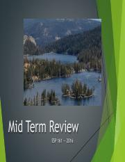 Mid Term Review (Slides)