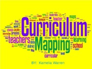 curriculum mapping