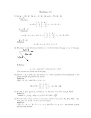 Cross Product Class Note Solutions