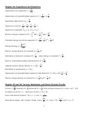 Chapter 24 - 26 Equations