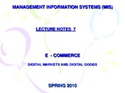 07-LECTURE NOTES 7 E - COMMERCE DIGITAL MARKET AND DIGITAL GOODS