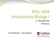 BIOL1003 -12_The cell cycle - Fall2013