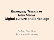 digital culture & bricolage notes