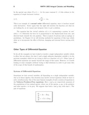 Other Types of Differential Equation