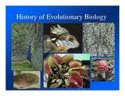 Lecture Notes History of Evolutionary Thought