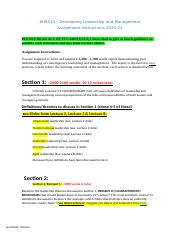 Coursework 2021 ASSIGNMENT GUIDELINES Developing Leadership and Management.docx