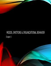 moods, emotions & organizational behavior