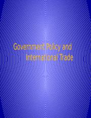 7. Government Policy and International Trade(2)