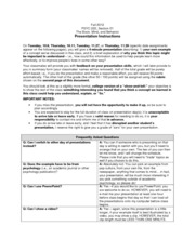 Presentation Instructions plus Date and Topic Assignments and Grading Rubric