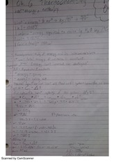 Thermochemistry Review Notes