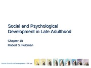 Social and Psychological Development in Late Adulthood Lecture